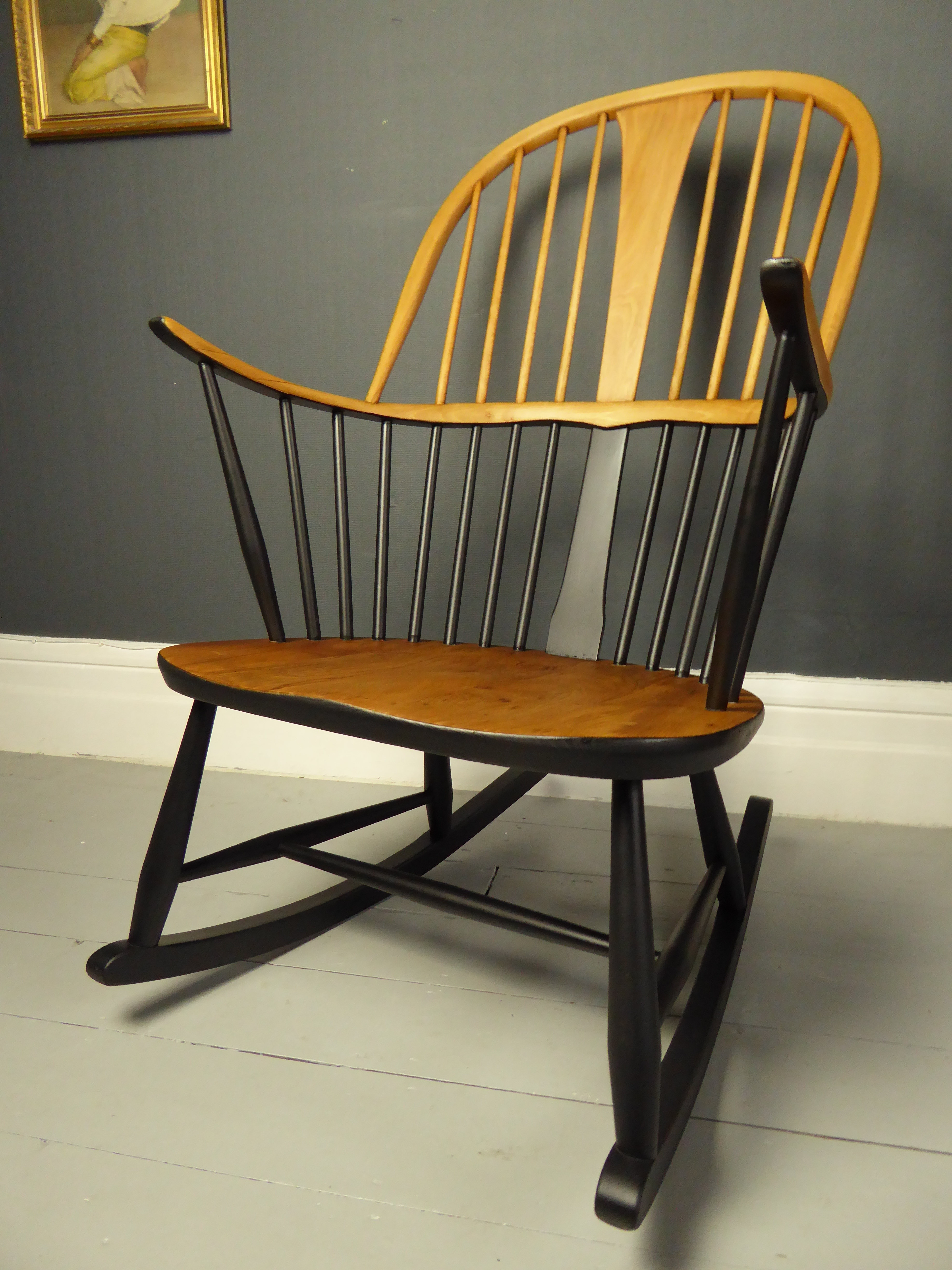 Swell Vintage Retro Mid Century Ercol Double Bow Chairmaker Fireside Rocking Chair 473 Inzonedesignstudio Interior Chair Design Inzonedesignstudiocom