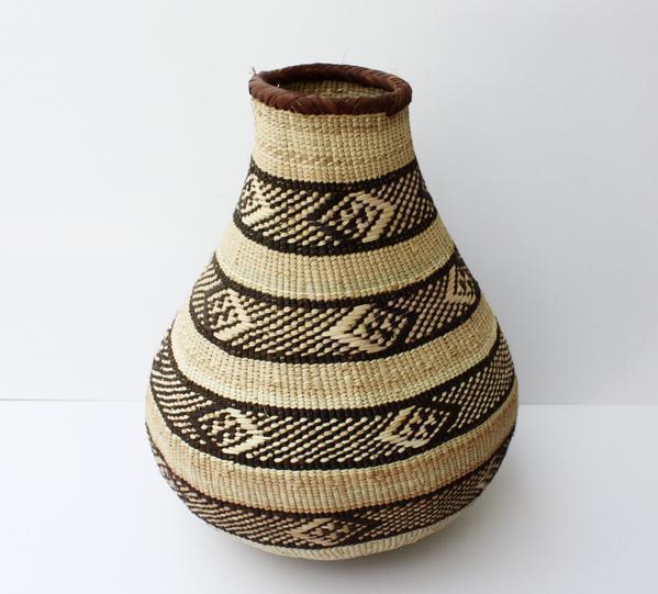 """Binga Calabash Basket 34cm (13 1/2"""") High   Large Handmade, African Basket, Vase"""