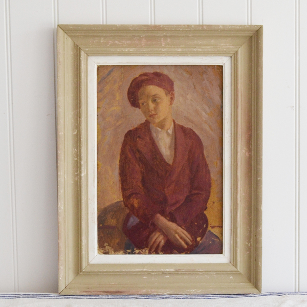 1930, Oil Portrait Of 'Pamela In Cathcart Road'