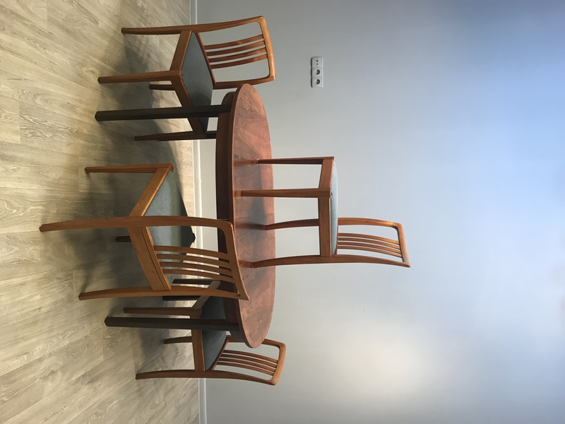 A Set Of 4 Danish Chairs, The 70s, After Renovation.