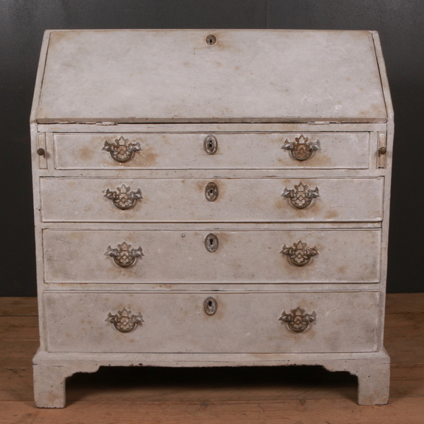 18th C English Painted Bureau 1780