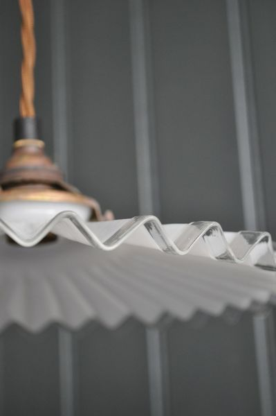 French Pleated Pendant