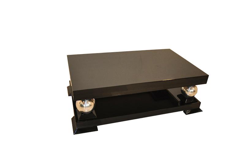 Art Deco Coffee Table With Chrome Feet