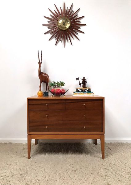 60s Superb Mid Century Retro Industrial Small Uniflex Chest Of Drawers Sideboard