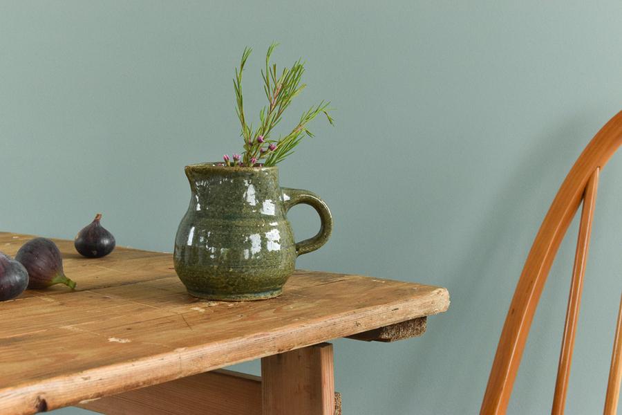 Vintage Green Small Studio Pottery Ceramic Jug