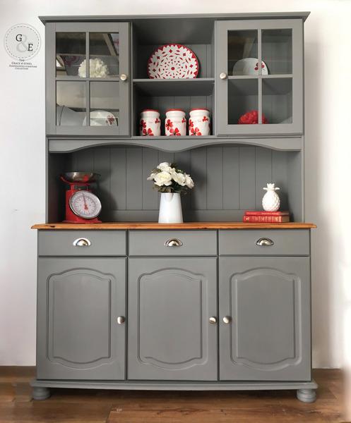 Pine Welsh Dresser, Farmhouse Country Kitchen Dresser