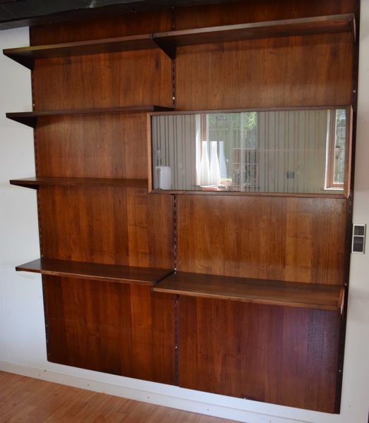 Danish Mid Century Rosewood Fm Shelving System By Kai Kristiansen, 1960's