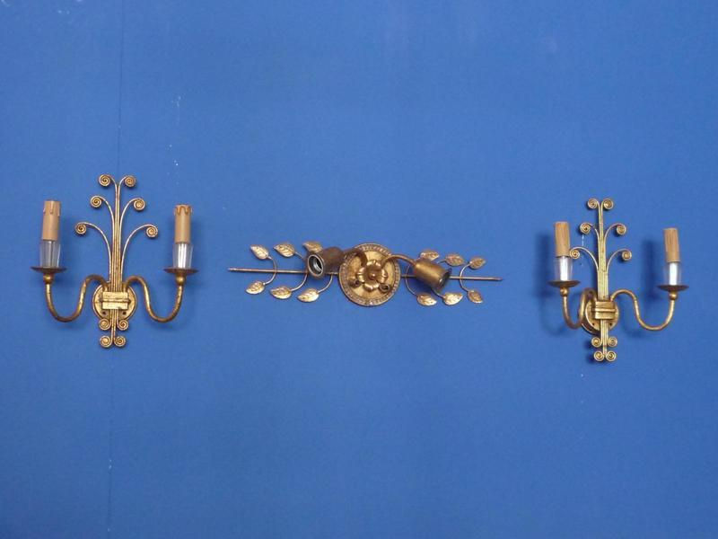 Sconces By Maison Charles For Maison Baques, 1960s, Set Of 3