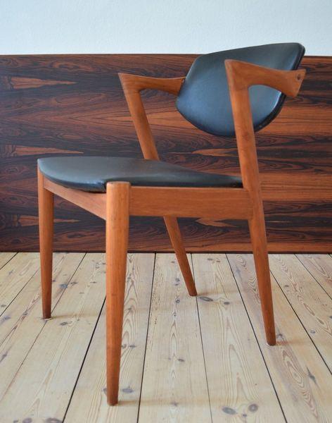 Danish Kai Kristiansen Model 42 Teak Dining Chair.