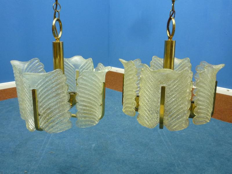Hanging Lamps By Carl Fagerlund For Orrefors, 1960s, Set Of 2