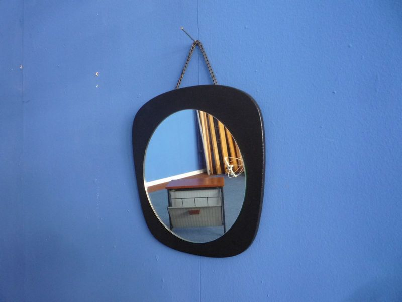 Rounded Wall Mirror, 1950s