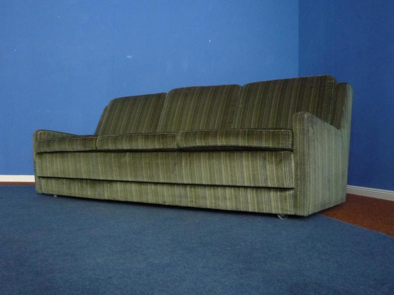 German Velvet Sofa From Kill International, 1970s