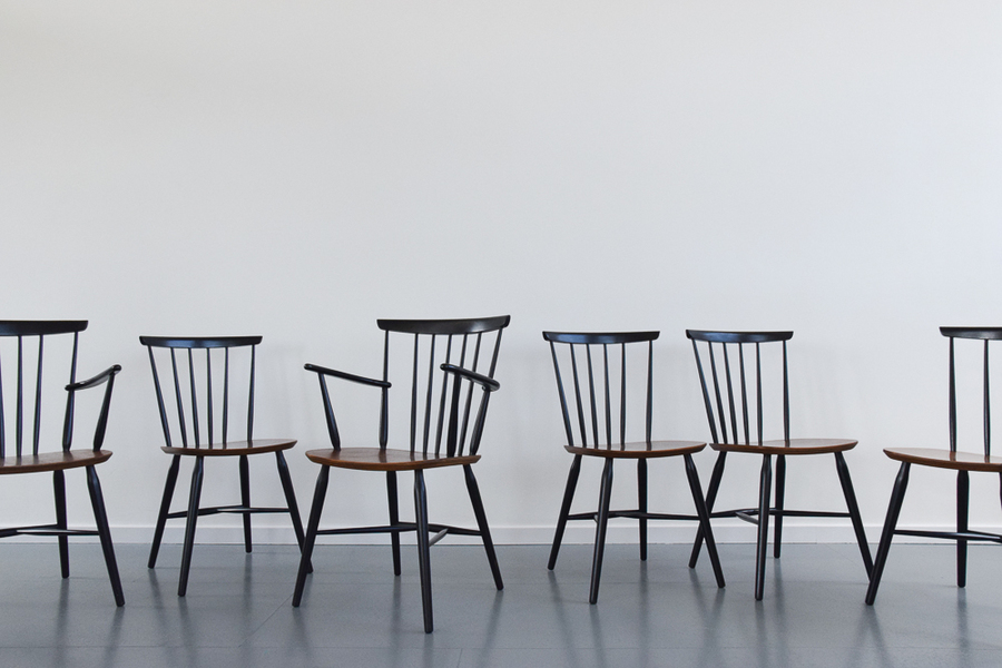Vintage Set Of Six Danish Mid Century Danish Teak Dining Chairs By Farstrup For Mobler