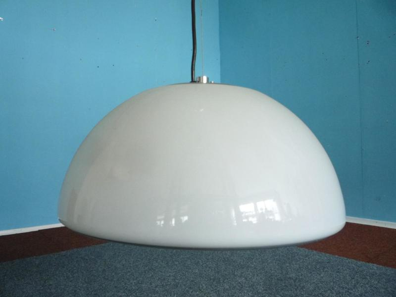 Vintage Plastic Hanging Lamp By Harvey Guzzini