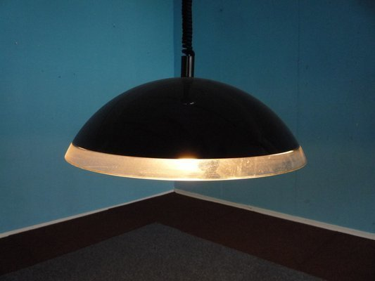 Italian Hanging Lamp In Black By Harvey Guzzini