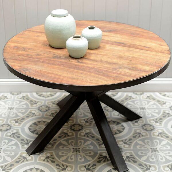 Iron Leg Dining Table