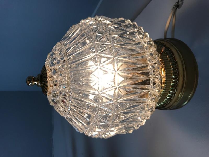 Crystal Ceiling Lamp, Ceiling Lamp, Sweden 50's