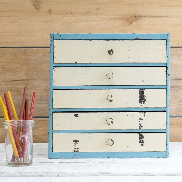 Blue And Cream Set Of Drawers #1