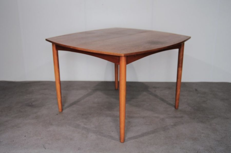 Danish Teak Square Extendable Dining Table, 1960s