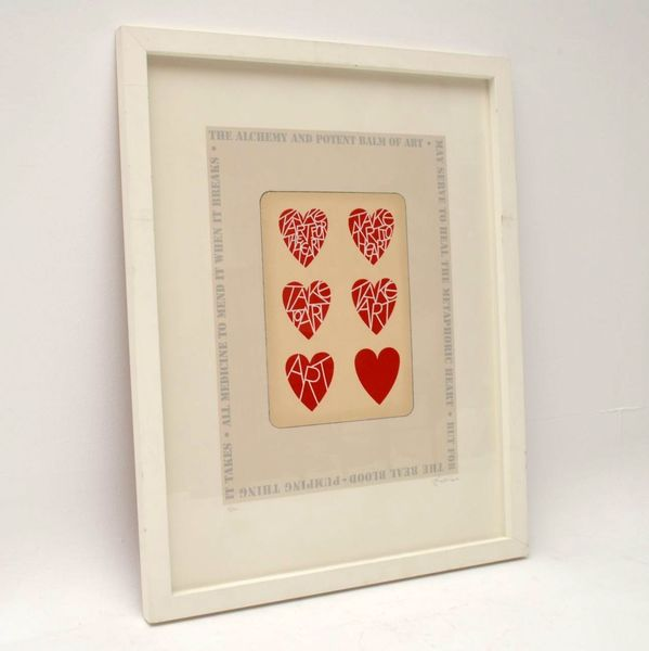Take Art For The Heart – Signed Limited Edition Silkscreen Print By Tom Phillips