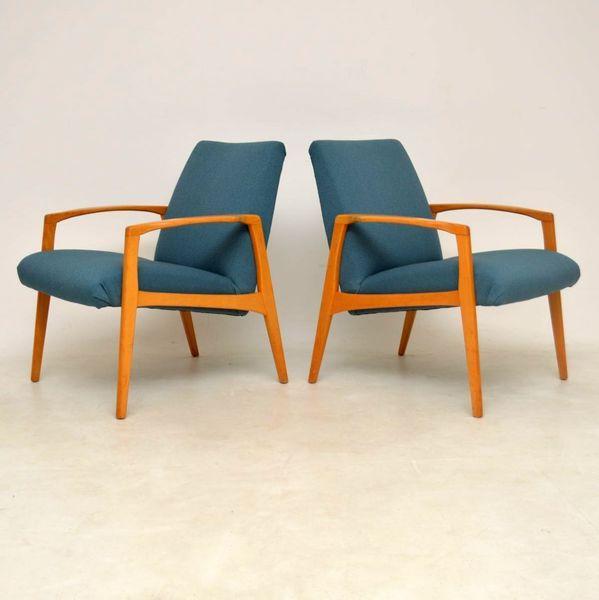 1960's Pair Of Swedish Vintage Armchairs