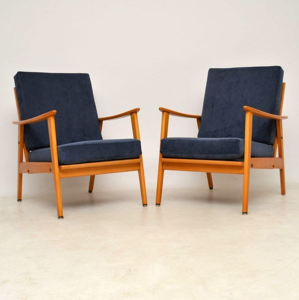 1960's Pair Of Vintage Armchairs