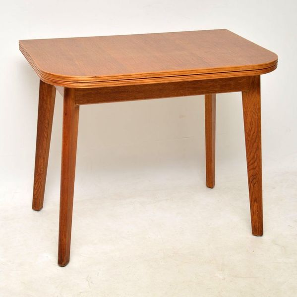 1950's Vintage Oak Dining Table / Side Table