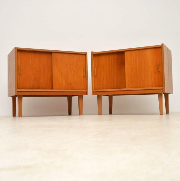 1960's Pair Of Teak Vintage Cabinets