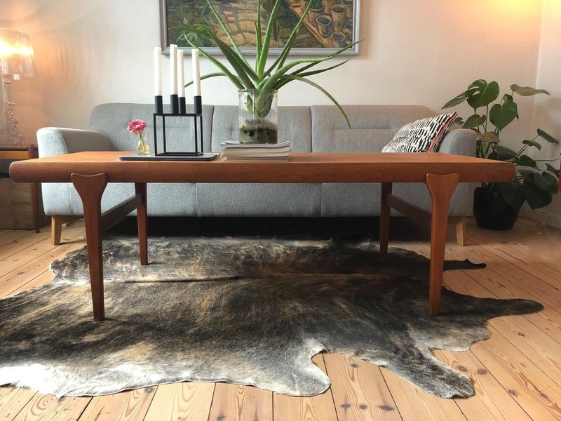 Danish Mid Century Teak Coffee Table By Johannes Andersen.
