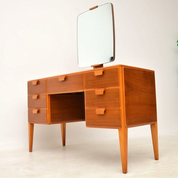 1950's Vintage Walnut Dressing Table