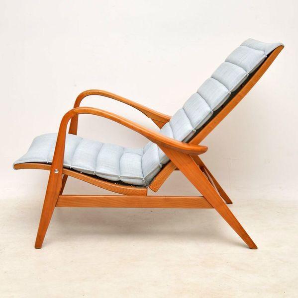 1960's Vintage Swedish Reclining Armchair