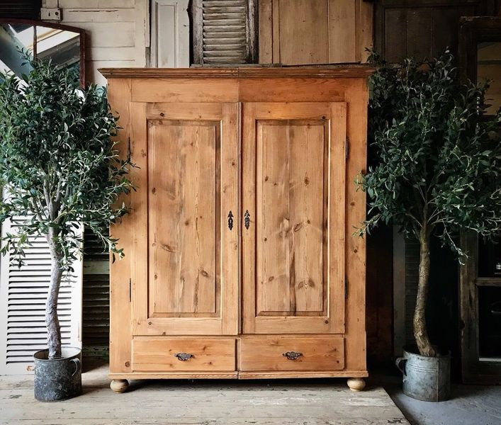 Vintage, Rustic Pine Wardrobe