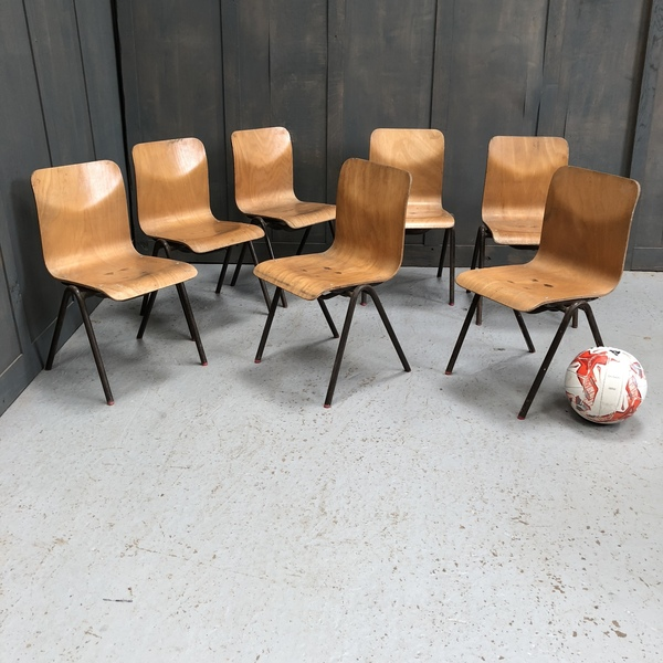 Seven Children's Stacking Chairs