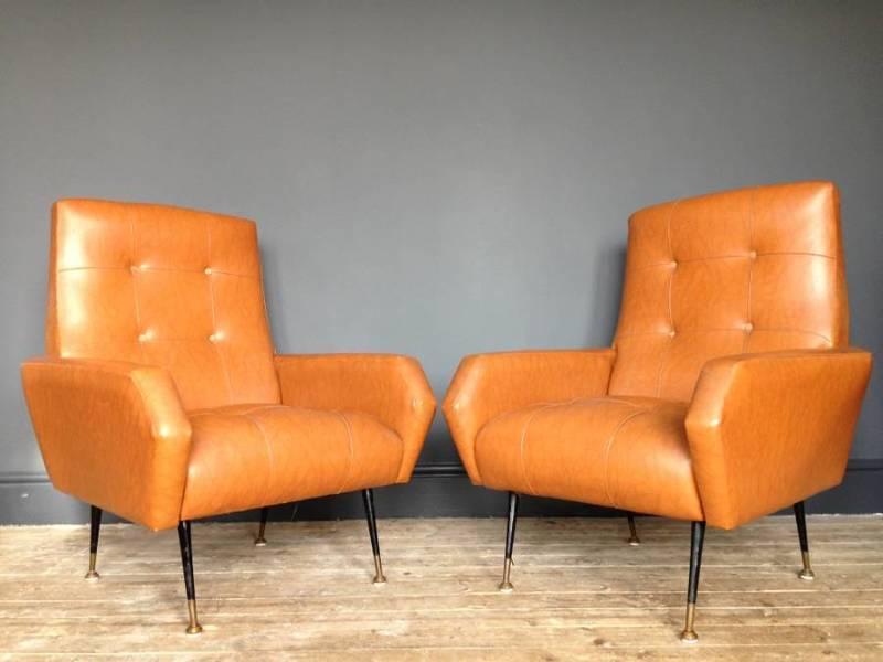 A Pair Of Italian Armchairs