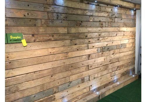Wood Wall Cladding, Pallet Wood Cladding  Per Sq.M, Dry, Denailed