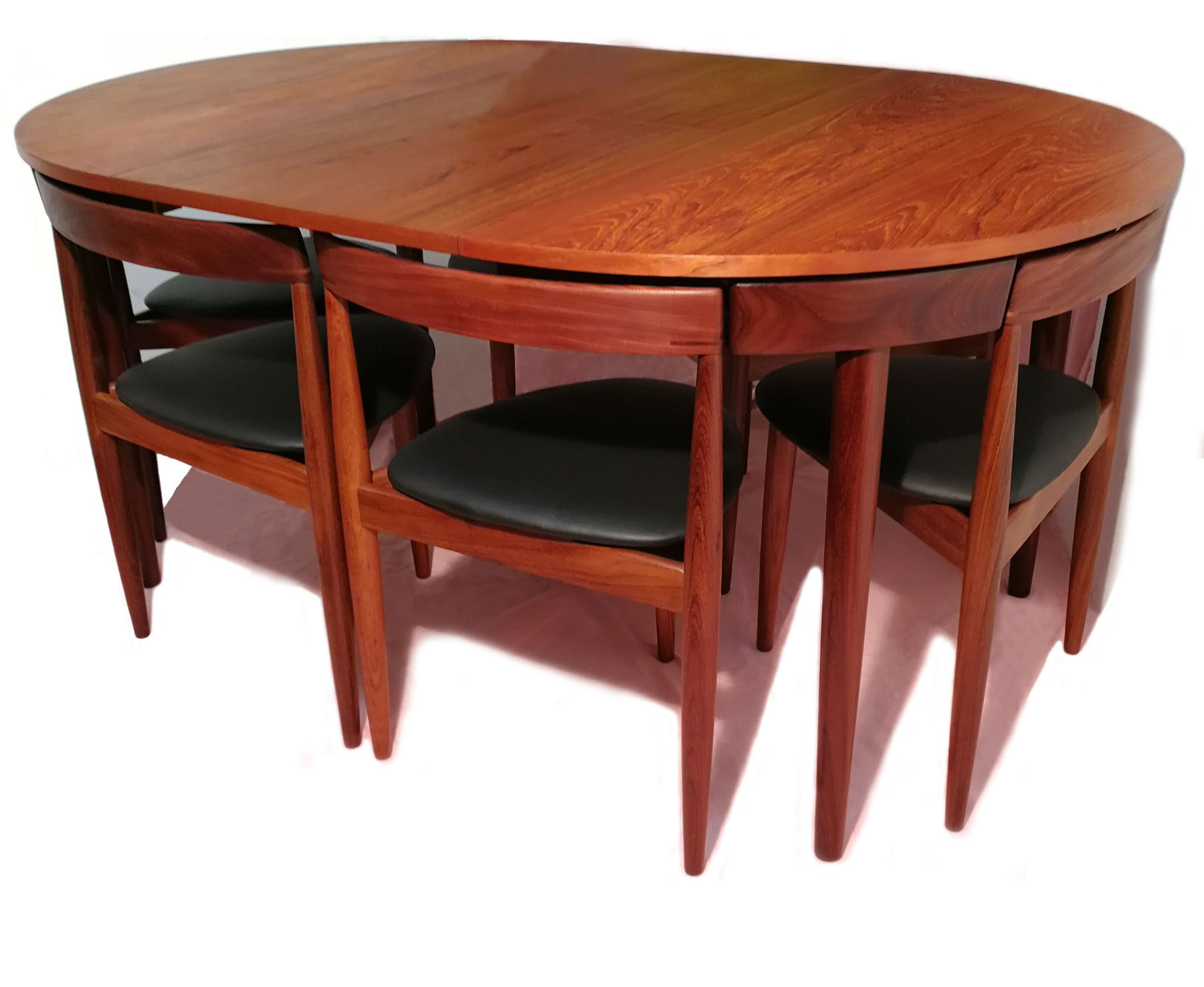Extendable Dining Table With Six Chairs By Hans Olsen For Frem Rojle