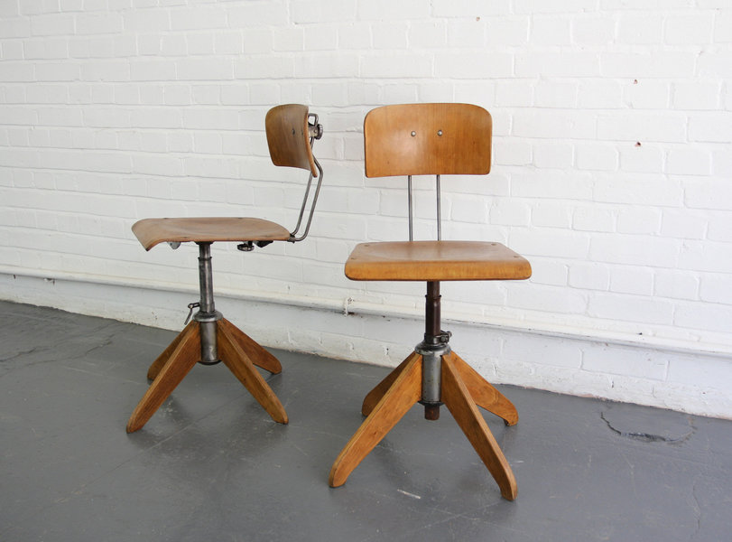 Industrial Work Stools By Robert Wagner For Rowac Circa 1940 S