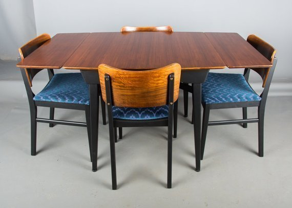 Mid Century Dining Set By Beautility Furniture Ding Table And Chairs Retro G Plan Vinterior