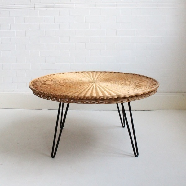 Large Rattan Coffee Table