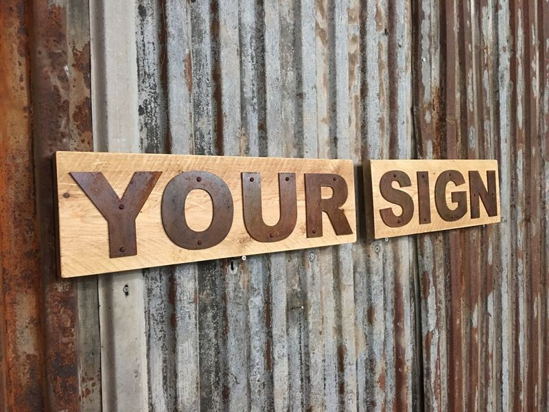 """Reclaimed Wooden Sign Letter I 5/"""" Tall"""