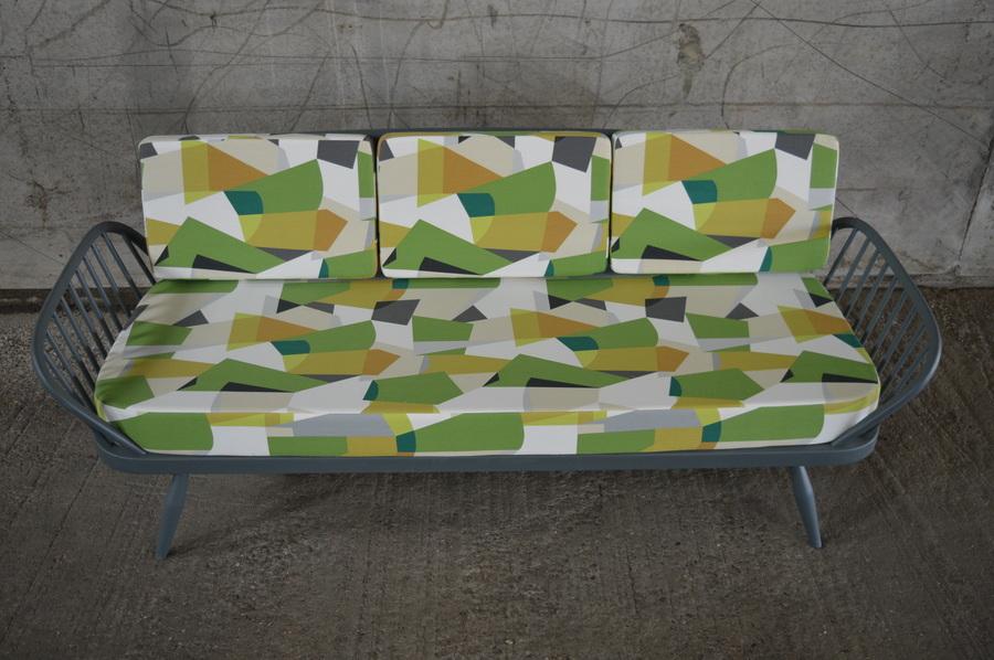 Ercol: Fabulous Sudio Couch In Farrow & Ball Down Pipe Grey