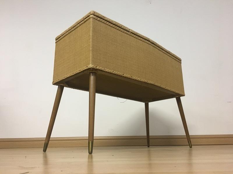 reputable site e7587 ca581 Vintage Retro Mid Century 60s Blanket Box Storage Ottoman On Long Legs