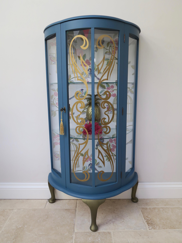 Pretty Vintage Gl Display Cabinet