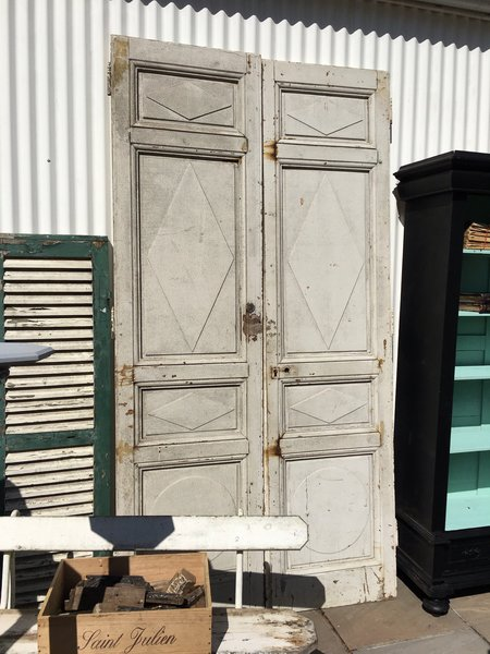 Impressive Pair Of Antique French Chateau Doors   Solid Oak