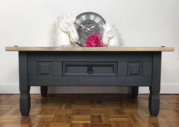 Grey Coffee Table Painted Furniture